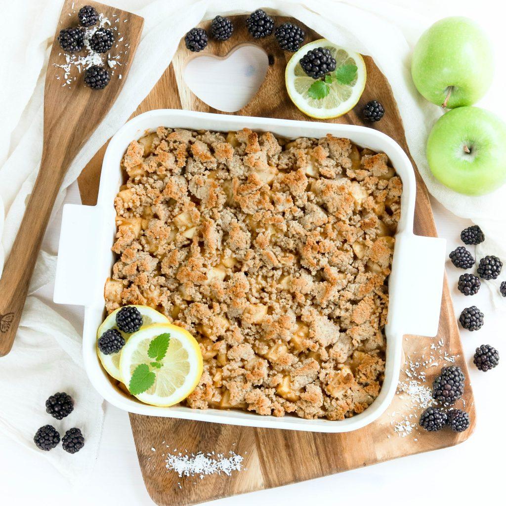 Apple Crumble - vegan und zuckerfrei