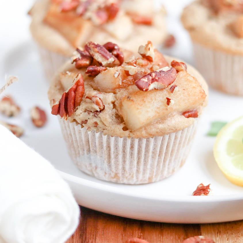 Birnen-Pekannuss-Muffins